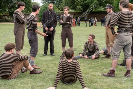 Stock Picture of James Harkness as Jimmy Love, Kevin Guthrie as Fergus Suter, Craig Parkinson as James Walsh and Joncie Elmore as Ted Stokes