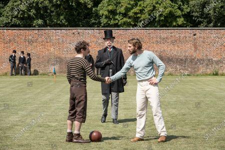 Kevin Guthrie as Fergus Suter and Edward Holcroft as Arthur Kinnaird