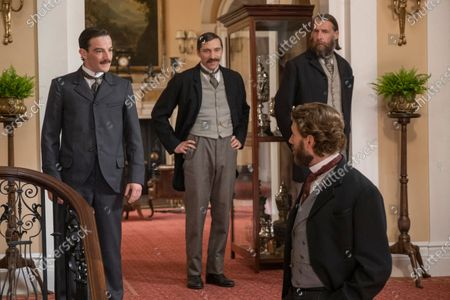 Kevin Guthrie as Fergus Suter, Ben Batt as John Cartwright, Craig Parkinson as James Walsh and Edward Holcroft as Arthur Kinnaird