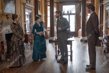 Charlotte Hope as Margaret Alma Kinnaird and Edward Holcroft as Arthur Kinnaird