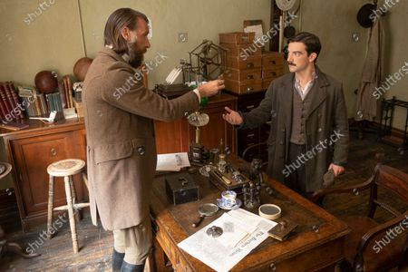 Stock Image of Craig Parkinson as James Walsh and Kevin Guthrie as Fergus Suter