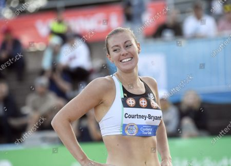 Stock Image of Melissa Courtney-Bryant of Great Britain after women's 1500 metres race at the athletics Paavo Nurmi Games in Turku, Finland on Tuesday, 11th August, 2020.