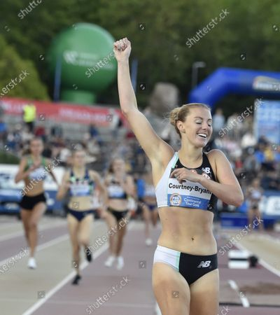 Stock Photo of Melissa Courtney-Bryant of Great Britain after women's 1500 metres race at the athletics Paavo Nurmi Games in Turku, Finland on Tuesday, 11th August, 2020.