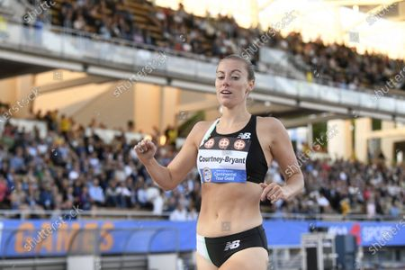 Melissa Courtney-Bryant of Great Britain and NI winning women's 1500m run at the athletics Paavo Nurmi Games in Turku, Finland on Tuesday, 11th August, 2020.