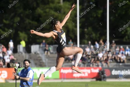 Stock Photo of Jazmin Sawyers of Great Britain and NI during women's long jump at the athletics Paavo Nurmi Games in Turku, Finland on Tuesday, 11th August, 2020.