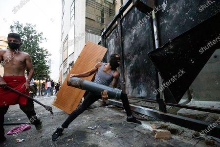 Editorial image of Beirut Demonstration, Beirut, Lebanon - 11 Aug 2020
