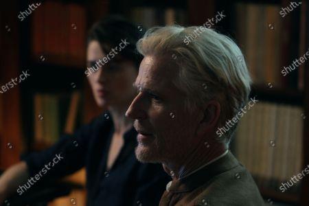 Stock Photo of Agnieszka Grochowska as Dr. Kowalska and Matthew Modine as Dr. Fisher
