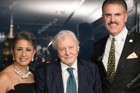 Stock Image of Rita Magill, Sir David Attenborough, Ron Magill