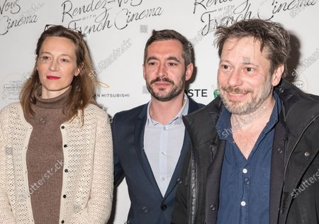 (L-R) Marine Francen, Xavier Legrand, Mathieu Amalric attend Renez-Vous with French Cinema Opening Night - Barbara US Premiere
