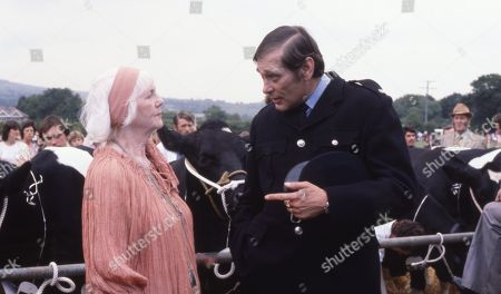 Emmerdale Farm - Ep 548 Thursday 24th January 1980  The Connelton Show takes place. P.C. Edwards tells Mick that he knows it was him who shot Enid's fox, but lack of proof is preventing him from doing anything about it. Enid is furious and threatens private prosecution, but P.C. Edwards warns her that Mick could retaliate by bringing charges of assault against her. With Enid Pottle, as played by Anne Dyson ; P.C. Edwards, as played by Barry Hart.