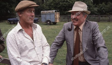 Stock Photo of Emmerdale Farm - Ep 548 Thursday 24th January 1980  The Connelton Show takes place. Sam wins first prize with his onions and Matt wins first prize with his against NY Estates. With Jesse Gillin, as played by John Abineri ; Maurice Westrop, as played by Edward Dentith.