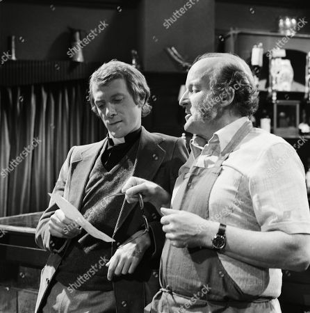 Emmerdale Farm - Ep 543 Tuesday 8th January 1980  Bob Jerome is covering for Donald in Beckindale again while he is away in a retreat. Amos proudly gives him a poem he's written for the parish magazine. With Rev. Bob Jerome, as played by Richard Howard, Amos, as played by Ronald Magill.