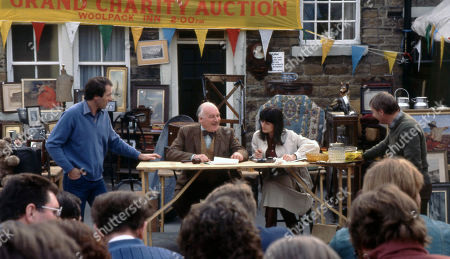Emmerdale Farm - Ep 590 Thursday 26th June 1980  As Beckindale prepares for Amos' Grand Charity Auction, Amos himself begins to have doubts about how things will turn out. With Jack Sugden, as played by Clive Hornby; Henry Wilks, as played by Arthur Pentelow; Judy Westrop, as played by Jane Cussons; Matt Skilbeck, as played by Frederick Pyne.