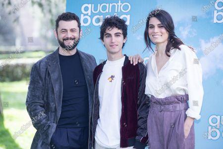 Stock Image of Vinicio Marchioni, Luigi Fedele and Valeria Solarino