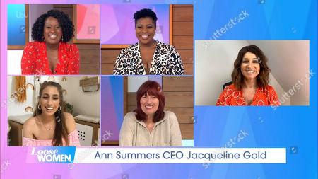 Charlene White, Brenda Edwards, Stacey Solomon Janet Street-Porter and Jacqueline Gold