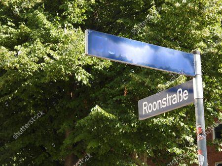 The Bismarck Street in Eppendorf has been renamed Black Lives Matter Street by strangers, Hamburg, Germany - 12 Aug 2020 için haber amaçlı resim