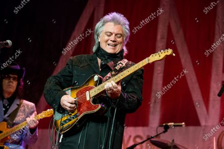 Marty Stuart performs during Marty Stuart's 16th Annual Late Night Jam at the Ryman Auditorium on in Nashville, Tenn. Stuart, along with Dean Dillon and Hank Williams Jr., will be inducted into the Country Music Hall of Fame