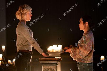 Sarah Grey as Alyssa Drake and Diana Bang as Salvador Grant