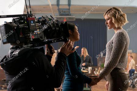 Stock Picture of Diana Bang as Salvador Grant and Sarah Grey as Alyssa Drake