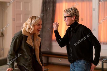 Stock Image of Sarah Grey as Alyssa Drake and Kristin Lehman Director