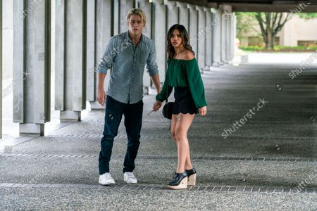Stock Image of Jake Manley as Jack Morton and Louriza Tronco as Gabrielle Dupres