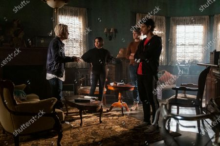 Jake Manley as Jack Morton, Devery Jacobs as Lilith Bathory, Thomas Elms as Hamish Duke and Adam DiMarco as Randall Carpio