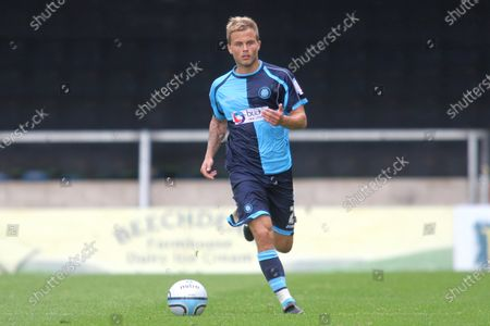 Former Dagenham and Brentford player, Danny Foster in action for Wycombe Wanderers during Wycombe Wanderers vs Morecambe, NPower League Two Football at Adams Park on 7th August 2010