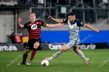 Stock Picture of Melbourne Victory forward Andrew Nabbout (9) controls the ball