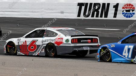 Ryan Newman (6) races into turn 1 during a NASCAR Cup Series auto race, at the New Hampshire Motor Speedway in Loudon, N.H. Roush Fenway Racing announced a 12-race sponsorship deal Wednesday, Aug. 12, 2020, with Guaranteed Rate to fund Ryan Newman's car throughout the remainder of this NASCAR season