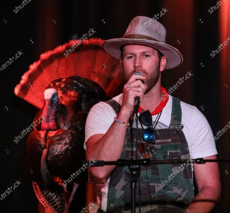 Singer/Songwriter Drake White performs on stage during the Outdoor Countrywriters round at The Listening Room Cafe