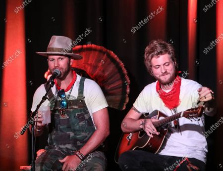 Stock Photo of Singer/Songwriter Drake White performs on stage during the Outdoor Countrywriters round at The Listening Room Cafe