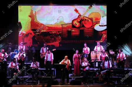 Editorial image of Renzo Arbore with  Italian Apulian Orchestra, Italy - 02 Aug 2020
