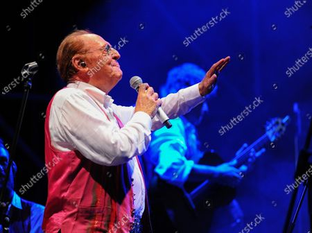 Stock Picture of On the Prairie of the Portici Palace, the highly anticipated concert by Renzo Arbore accompanied by his Italian Apulian Orchestra by birth but Neapolitan by adoption, since 1992 he has been carrying out a project to enhance the Neapolitan classical song with his own personal way of understanding music.