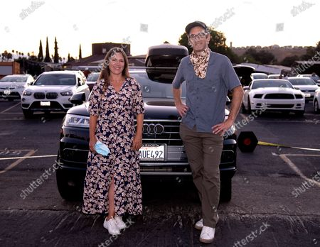 Stock Photo of Filmmakers Amanda McBaine and Jesse Moss attend A24 Studio's Special Screening of 'Boys State' at West Wind Capitol
