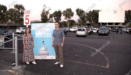 Stock Picture of Filmmakers Amanda McBaine and Jesse Moss attend A24 Studio's Special Screening of 'Boys State' at West Wind Capitol