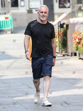 Chris Moyles seen departing The Global Radio Studios In London.