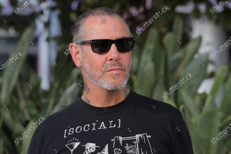 Stock Image of Musician Mike Ness of Social Distortion