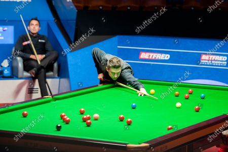 Editorial picture of Exclusive - Betfred World Snooker Championship, Day Fourteen, Crucible Theatre, Sheffield, UK - 13 Aug 2020