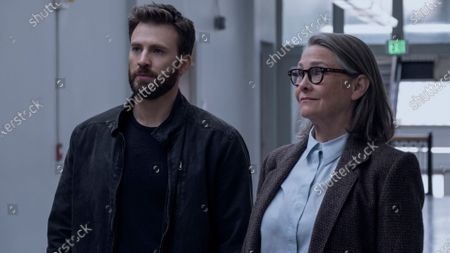 Stock Photo of Chris Evans as Andy Barber and Cherry Jones as Joanna Klein
