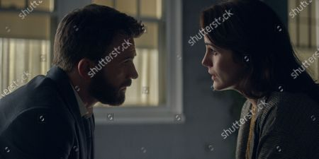 Chris Evans as Andy Barber and Michelle Dockery as Laurie Barber