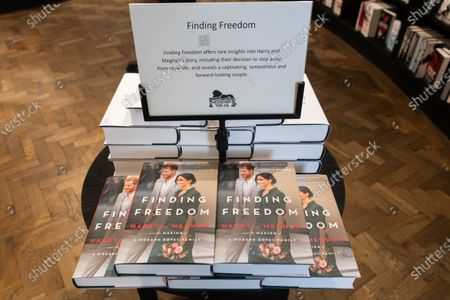 Editorial photo of Finding Freedom, Biography of Prince Harry and Meghan Markle on sale, London, UK - 13 Aug 2020