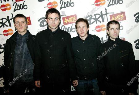"(L-R) Steve Kemp, Richard Archer, Ross Phillips and Kais Stephens of ""Hard-Fi""  The BRIT Awards Nominations Launch 2006, Riverside Studios, London, UK, Wednesday 11 Jan 2006Photo JM Enternational"