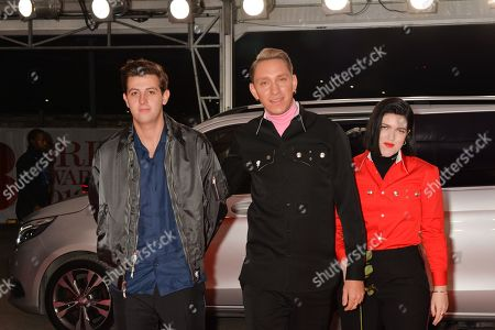 The xx - Jamie xx, Oliver Sim and Romy Madley Croft attend The BRIT Awards 2018 Red Carpet