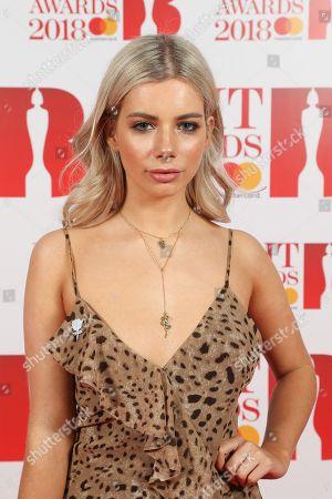 Joanna Kuchta attends The BRIT Awards 2018 Red Carpet