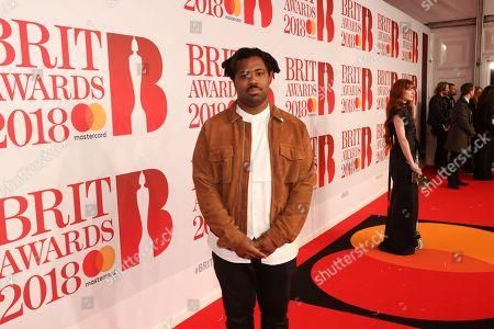 Sampha attends The BRIT Awards 2018 Red Carpet
