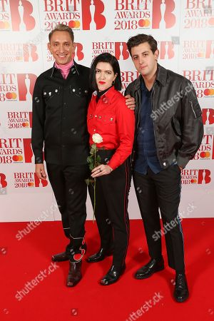 The xx -  Oliver Sim, Romy Madley Croft and Jamie xx attend The BRIT Awards 2018 Red Carpet