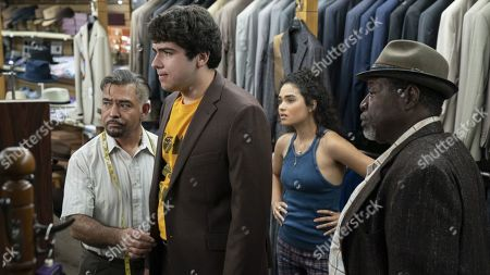 Kenneth Maharaj as Anand, Kevin Valdez as Louie, Brittany O'Grady as Bess and Chuck Cooper as Percy