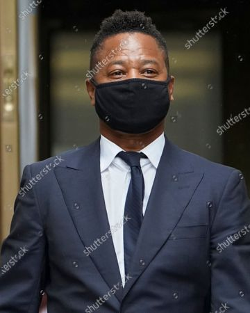 Cuba Gooding Jr. leaves court after a hearing in his sexual misconduct case, in New York. A judge ordered the courtroom outfitted with Plexiglas and other measures to prevent the spread of the coronavirus, which has delayed the trial indefinitely