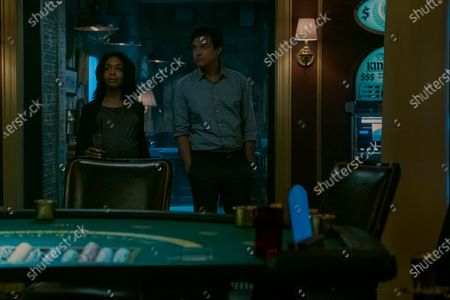 Jessica Frances Dukes as Maya Miller and Jason Bateman as Martin 'Marty' Byrde