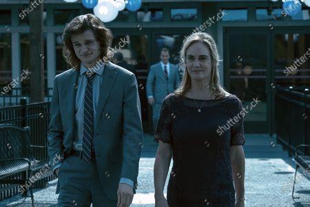 Charlie Tahan as Wyatt Langmore and Lisa Emery as Darlene Snell